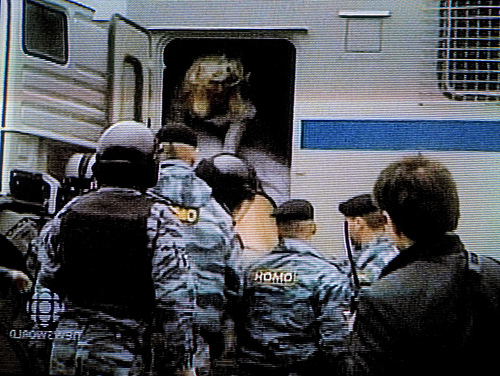 Flickr (DawnOne): Gay Rights Demo in Russia, busted by riot police.