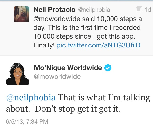 Mo'Nique Tweeted Me! :D